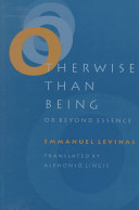 Otherwise Than Being  Or  Beyond Essence PDF
