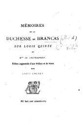 Fragment des Mémoires de Mde la duchesse de Brancas. De madame de Châteauroux