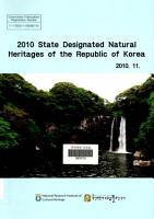State Designated Natural Heritages of the Republic of Korea PDF