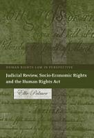 Judicial Review  Socio Economic Rights and the Human Rights Act PDF
