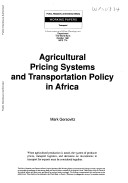 Agricultural Pricing Systems and Transportation Policy in Africa