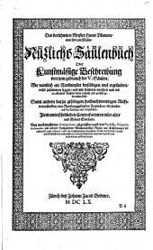 Des berühmten Meister Hans Blumen, von Lor am Mäin, Nuzlichs Säulenbuch: Oder Kunstmässige Beschreibung von dem gebrauch der V. Säulen