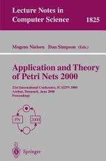 Application and Theory of Petri Nets 2000 PDF