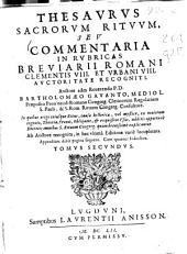 Thesaurus sacrorum rituum seu Commentaria in rubricas missalis et breuiarii romani: Volume 2