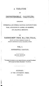 A Treatise on Infinitesimal Calculus: Differential calculus. 1857