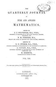 The Quarterly Journal of Pure and Applied Mathematics     PDF