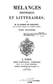 Mélanges historiques et littéraires: Volume3