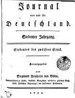 Journal von und f  r Deutschland PDF