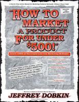 How to Market a Product for Under  500 PDF