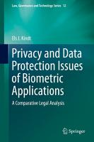Privacy and Data Protection Issues of Biometric Applications PDF