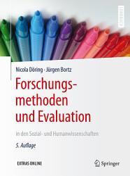 Forschungsmethoden und Evaluation in den Sozial  und Humanwissenschaften PDF