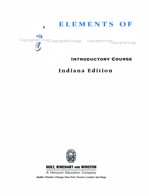 Elements of Literature, Grade 6 Introductory Course