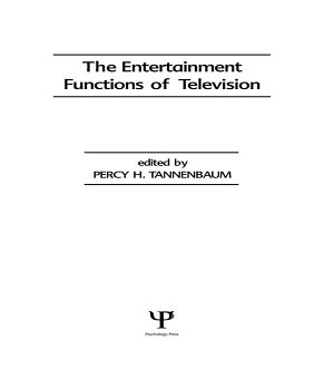 The Entertainment Functions of Television PDF