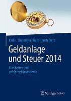 Geldanlage und Steuer 2014 PDF