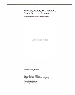 Women  Black  and Hispanic State Elected Leaders PDF