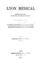 Lyon médical: Volume5