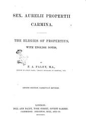 The Elegies of Propertius: With English Notes