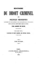 Histoire du droit criminel: Volume2