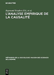 L   analyse empirique de la causalit   PDF