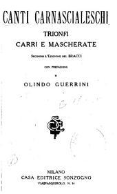 Canti carnascialeschi: trionfi, carri e mascherate