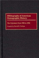 Bibliography of American Demographic History