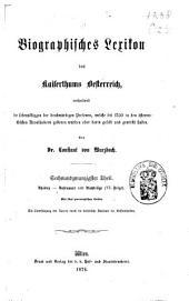 Biographisches Lexicon des Kaiserthums Österreich, enthaltend die Lebensskizzen der denkwürdigen Personen, welche 1750 bis 1850 im Kaiserstaate und in seinen Kronländern ... gelebt haben: Band 47