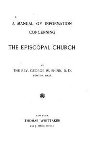 A Manual of Information Concerning the Episcopal Church PDF