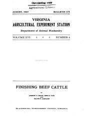 Finishing beef cattle