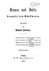 Romeo und Julia: Tragödie des Shakspeare