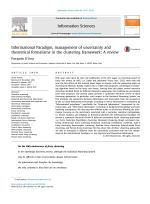 Informational Paradigm, management of uncertainty and theoretical formalisms in the clustering framework: A review