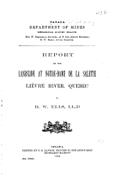 Report on the Landslide at Notre-Dame de la Salette, Lièvre River, Quebec: Issue 1030