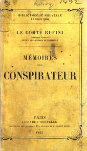 Lorenzo Benoni. Mémoires d'un conspirateur. The translator named in the preface as Jules Gourmez