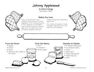 Johnny Appleseed Apple Crisp Recipe Book PDF