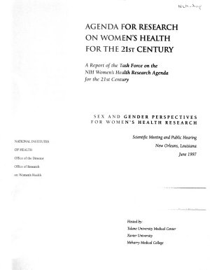Agenda for Research on Women s Health for the 21st Century  Sex and gender perspectives for women s health research PDF