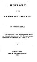 History of the Sandwich Islands PDF