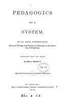 Pedagogics as a system  tr  by A C  Brackett PDF