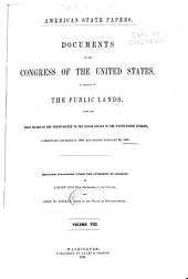 American State Papers: Documents, Legislative and Executive, of the Congress of the United States, Volume 8; Volume 35