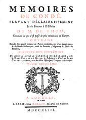 Memoires de Condé, servant d'éclaircissement et de preuves à l'Histoire de m. de Thou: contenant ce qui s'est passé de plus mémorable en Europe, Volume5