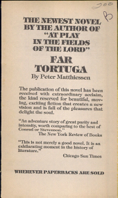 THE NEWEST NOVEL BY THE AUTHOR  AT PLAY IN THE FIELDS OF THE LORD  FAR TORTUGA PDF