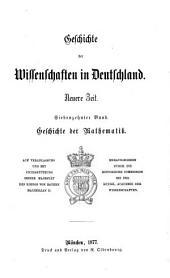 Geschichte der Mathematik in Deutschland