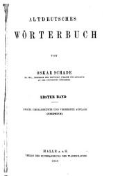 Altdeutsches Wörterbuch: Band 1