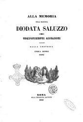 Alla memoria della marchesa Diodata Saluzzo componimenti arcadici raccolti dalla contessa Enrica Dionigi Orfei
