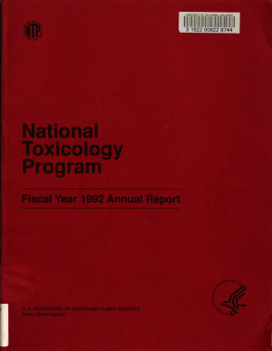 National Toxicology Program Annual Report for Fiscal Year     PDF