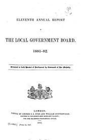 Annual Report of the Local Government Board ...: Volume 11