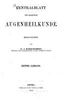 Zentralblatt fuer praktische augenheilkunde PDF