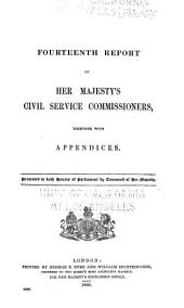 Report of Her Majesty's Civil Service Commissioners