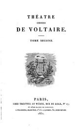 Théâtre choisi de Voltaire: Volume2