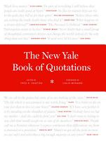 The New Yale Book of Quotations PDF