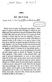 Simon, Du devoir