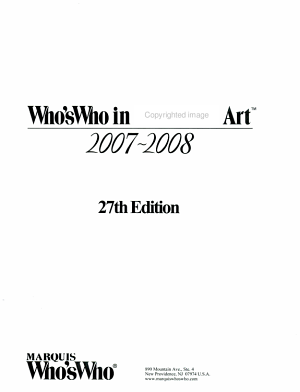 Who s Who in American Art 2007 2008